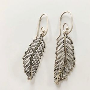 2014 Pandora Dangle Feather Earrings